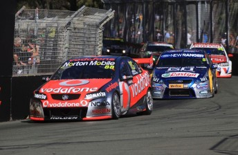 The V8 Supercars field on the Gold Coast