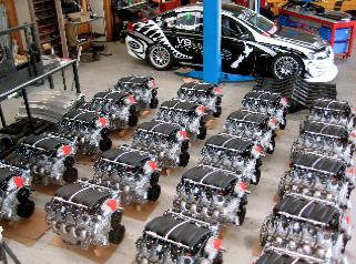 Twenty V8 engines have arrived in New Zealand, ahead of the new V8 SuperTourers season