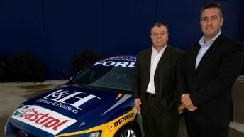 Chris Styring (right) with Ford Australia president Marin Burela