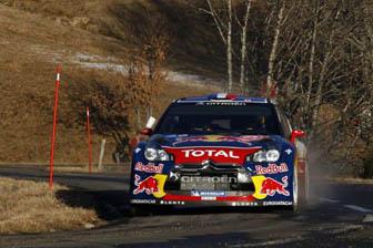 Sebastien Loeb leads the Rallye Monte Carlo