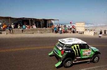 Stephane Peterhansel took Mini's first Dakar win