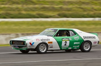 Jim Richards in his first test of the Javelin he hopes will take him to the Touring Car Masters crown