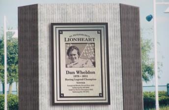 The memorial celebrating Dan Wheldon's relationship with St. Petersburg