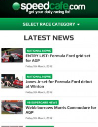 The new Speedcafe.com mobile site
