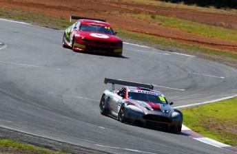 Kerry Baily's new Aston Martin topped Sports Sedan times in South Australia today
