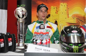 David Sera at a press conference in Dubai