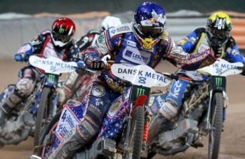 Jason Crump on his way to his first SGP win in over 2 years