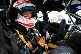Steven Johnson at the Queensland Raceway test last weekend
