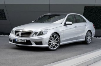 The current model Mercedes-Benz E63 AMG