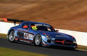 Peter Hackett leads the 2012 Australian GT Championship in an Erebus Racing SLS AMG GT3