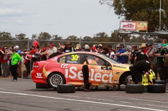 The #30 Team iSelect Commodore VE at Winton