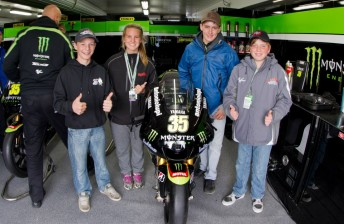 The young hopefuls with Cal Crutchlow's Tech 3 Yamaha