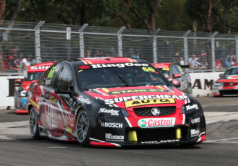 Ingall in the #66 Supercheap Auto Racing Commodore VE at Sydney earlier this month