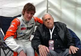 Jack with grandson Matthew who will race in the Pro Mazda Championship in the US this year for Andretti Autosport