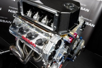 Nissan's V8 Supercar engine is a 5.0 litre variant of its former FIA GT1 winning motor