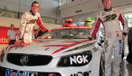 Tander and Courtney with the 2013 Holden Racing Team Commodore VF