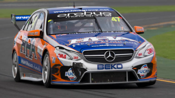 Tim Slade's E63 AMG at Albert Park