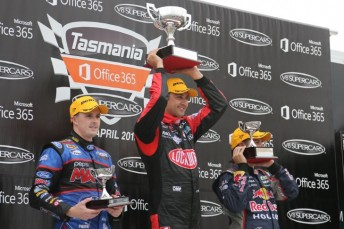 Coulthard, Whincup and Winterbottom on the podium
