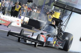 Larry Dixon qualified the Rapisarda racer in 5th - the team's best NHRA performance