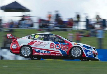The Team BOC Holden in action at Barbagallo