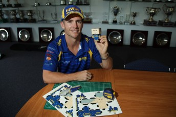 IRWIN Racing's Lee Holdsworth with his own #PAPERLEE