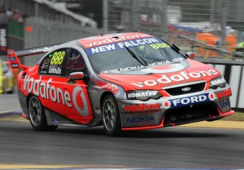 Craig Lowndes with 888-012A in full flight at Adelaide in 2008