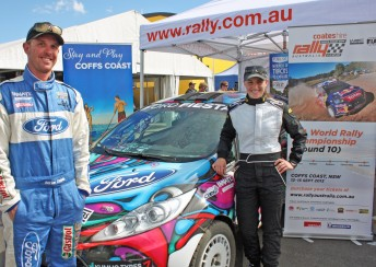 Molly Taylor with Adrian Coppin from Innate Motorsport