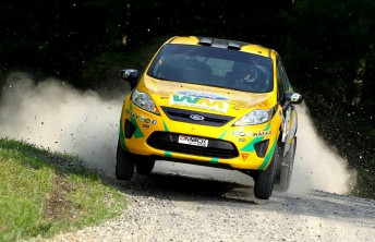 Reeves on full noise at the Susquehannock Trail Rally