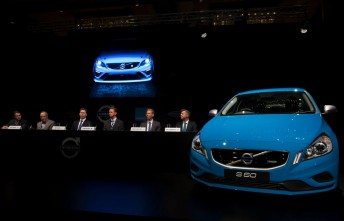A scene from the Volvo V8 Supercars launch in Brisbane