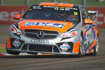 Steven Johnson will co-drive the #9 Mercedes with Maro Engel