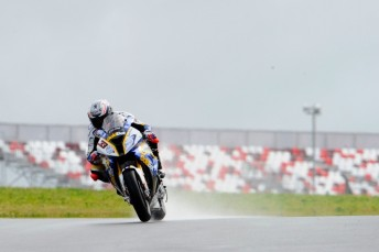 Marco Melandri won the first and only WSBK race in Moscow
