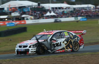 James Courtney was among several to suffer a spectacular tyre failure