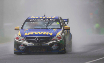 Lee Holdsworth running in the wet at Albert Park earlier this year