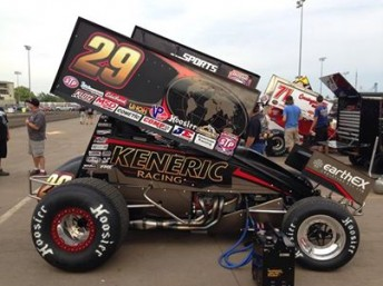 The Keneric Racing #29 that Kerry Madsen took to 2nd in the Knoxville Preliminaries