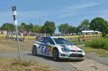 Sebastien Ogier won the opening two stages in Germany