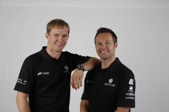 Mattias Ekstrom (top) and Andy Priaulx will drive the Xbox-backed Triple Eight wildcard entry at Bathurst