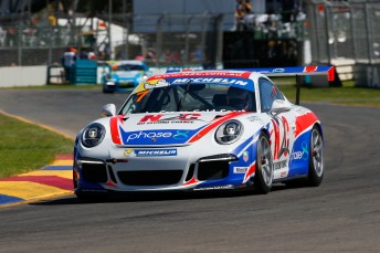 Warren Luff was the fast man in Carrera Cup practice