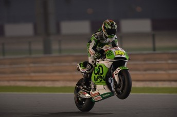 Alvaro Bautista stood atop of the Qatar test
