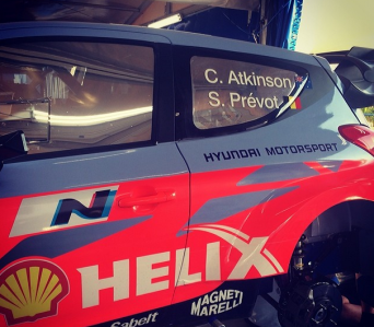 Final preparations being put on the Atkinson/Prevot car in the service park at Leon, Mexico.