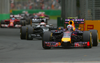 Ricciardo produced a strong performance on debut with Red Bull