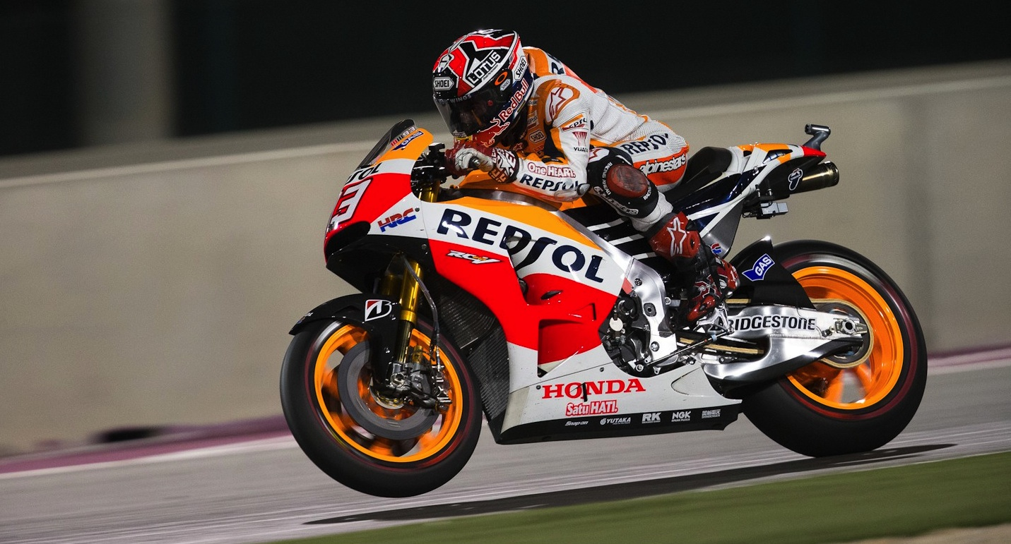 Marquez holds off Rossi in Qatar duel - Speedcafe