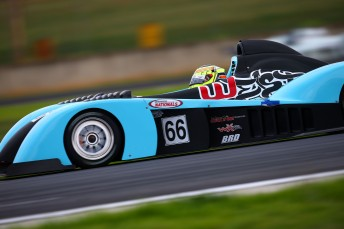 James Winslow won the opening race of the Australian Sports Racer Series, smashing the existing lap record along the way