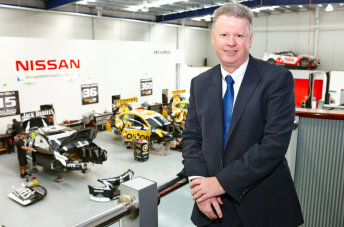 Richard Emery at Nissan Motorsport's Melbourne base