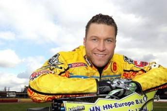 Beaming German, Martin Smolinski won the NZ SGP - his first ever Grand Prix!