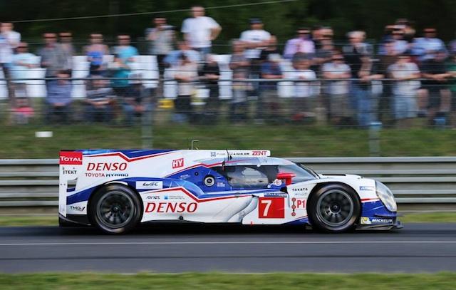 The pole-winning #7 Toyota TS040
