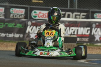 David Sera will be in the thick of the Stars of Karting Action