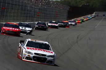 Earnhardt Jr. takes his first win at the 'Tricky Triangle'
