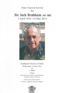 Andrew Cannon, the honorary Consul of Monaco delivered the eulogy at the state funeral for Sir Jack Brabham