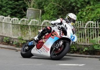 John McGuinness wib the Zero TT
