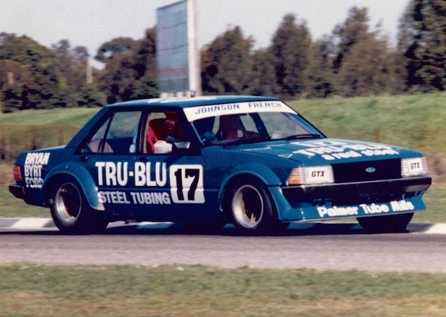 The Tru-Blu XD, pictured here at Surfers Paradise in 1980, brought with it a new Ford hero in Dick Johnson